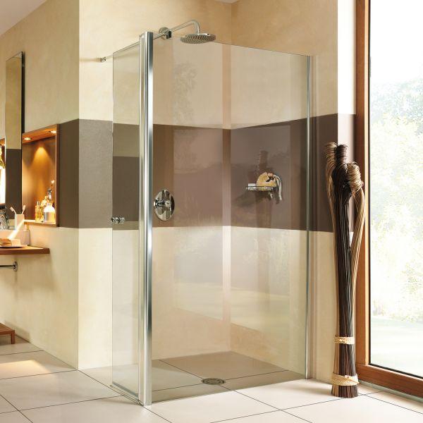 Entra Duschwand mit beweglichem Element über Eck