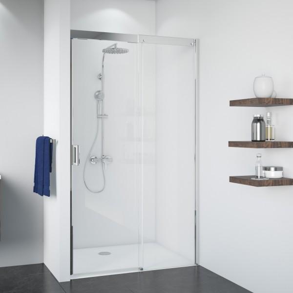 Duschkabine Panorama: Soft & Silent Schiebetür rechts für Nische