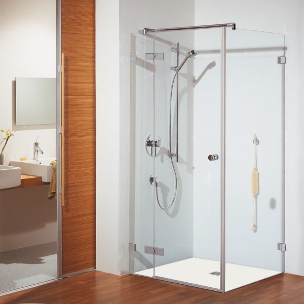 duschkabine first glass dreht r mit festteil und. Black Bedroom Furniture Sets. Home Design Ideas
