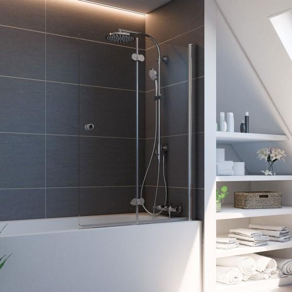 Elana Komfort: Badewannenaufsatz Drehfalttür Plus 2-teilig, rechts