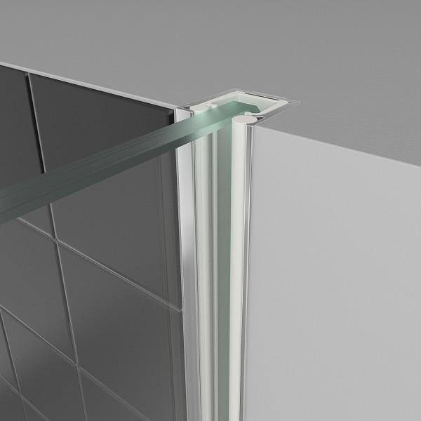 Wandanschlussprofil (einzeln für Vorab-Montage unter Putz) für Panorama Duschwand Typ 3450