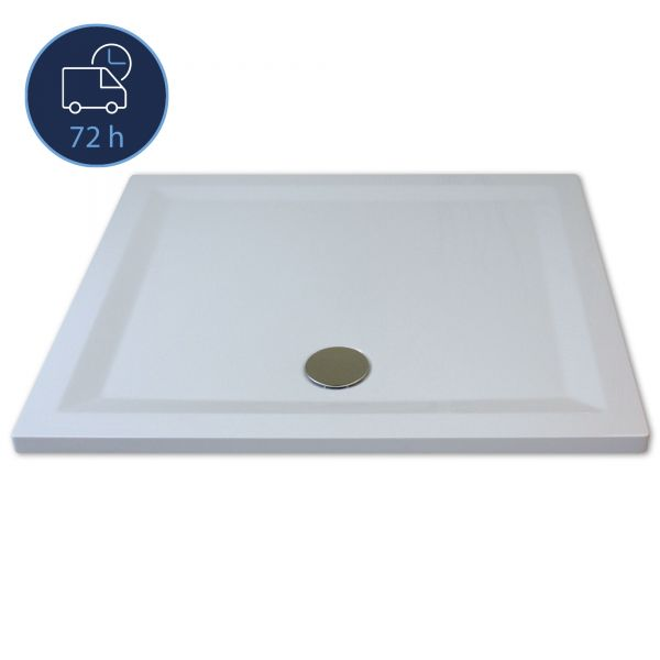 QUICK 72 - Flat Line Design Rechteckwanne 75 cm x 90 cm
