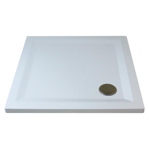 Flat Line Design Quadratduschwanne