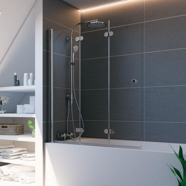 Elana Komfort: Badewannenaufsatz, Drehfalttür 3-teilig, links