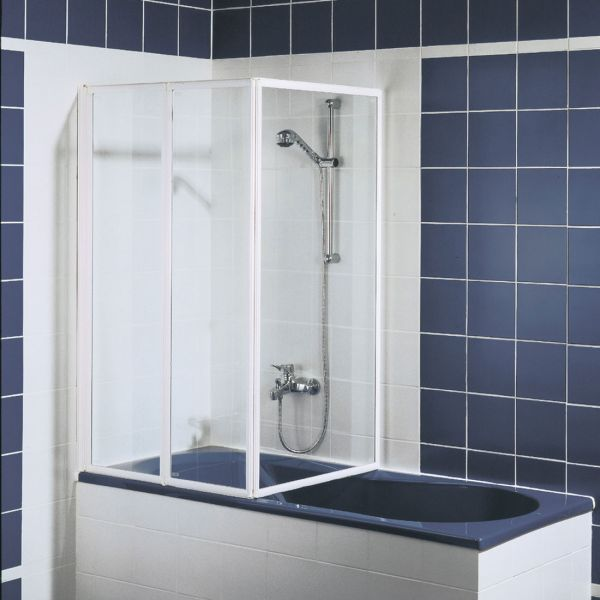 Badewannenaufsatz Fara 4: Faltwand 3-teilig Komfort