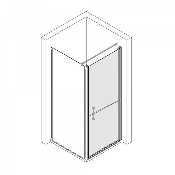 Elana 6: Drehtür rechts horizontal geteilt für Seitenwand