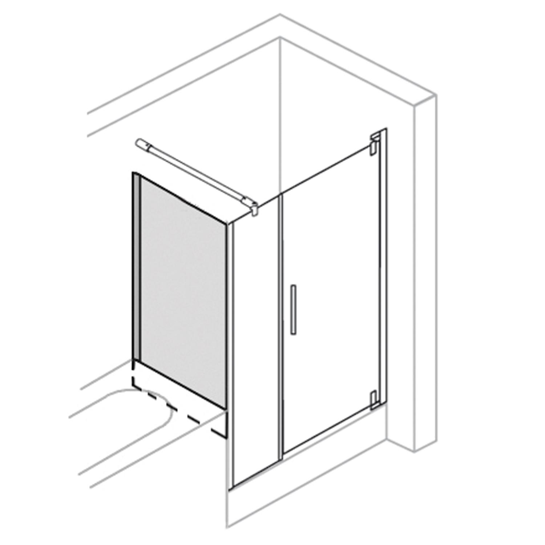 paroi fixe baignoire droite pour porte pivotante breuer. Black Bedroom Furniture Sets. Home Design Ideas