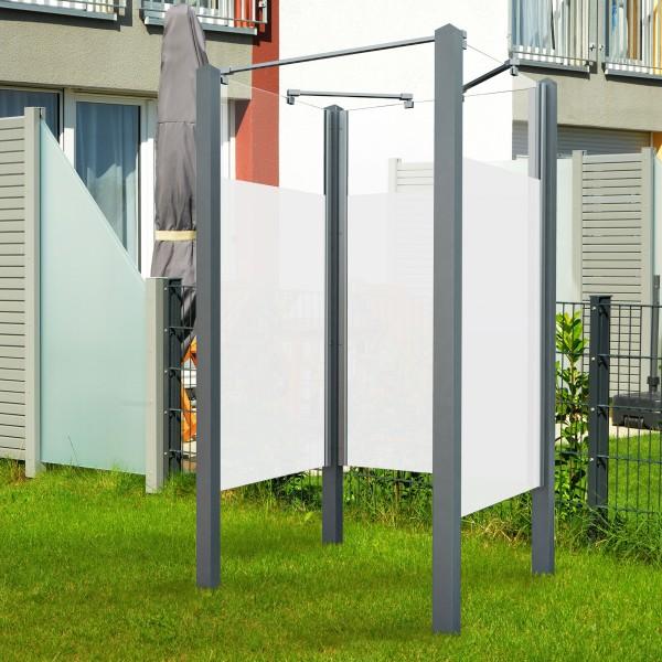 Garten-Dusche Exo, Set 2-seitig Intima grau im Garten