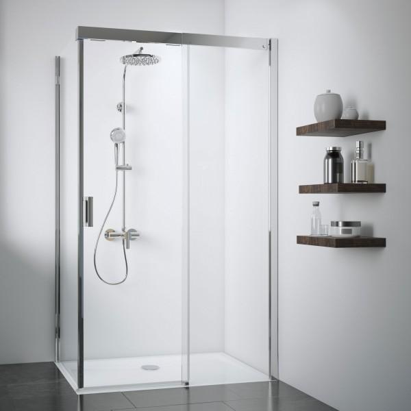 Duschkabine Panorama: Soft & Silent Schiebetür rechts für Seitenwand