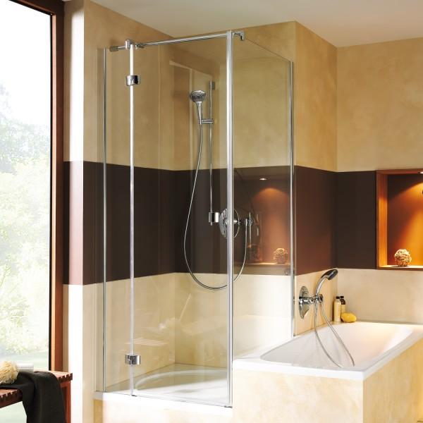 Espira Badewannenseitenwand für Drehtür mit Festteil