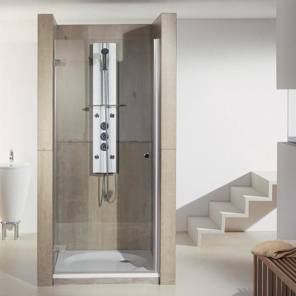 First Glass Drehtür links für Nische, Innen- & Außenöffnung