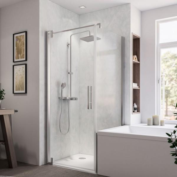 Europa Design Badewannenseitenwand rechts für Drehtür