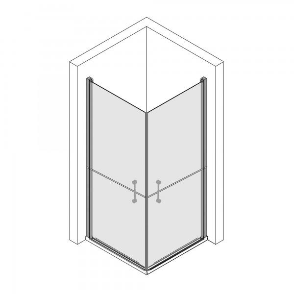Elana 6: Eckeinstieg Drehtür, horizontal geteilt