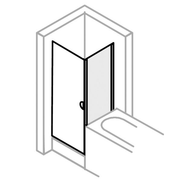 Fara 4 Badewannenseitenwand für Drehtür, Klapptür oder Schiebetür 3-teilig
