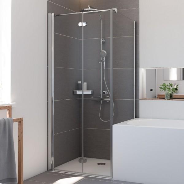 Elana Komfort: Badewannenseitenwand für Drehfalttür, rechts