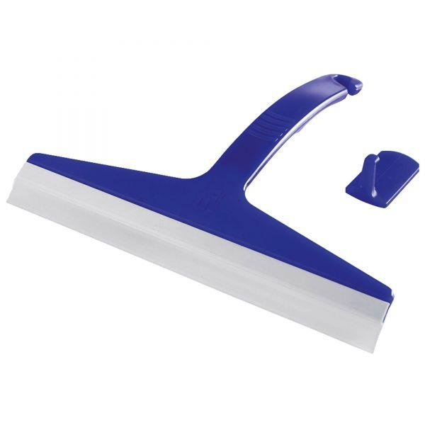 Glasabzieher für Duschkabinen, blau