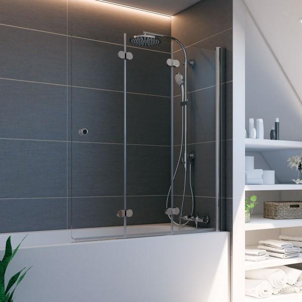 Elana Komfort: Badewannenaufsatz, Drehfalttür 3-teilig, rechts