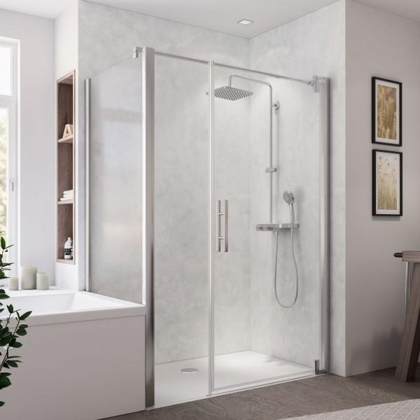 Europa Design Badewannenseitenwand links für Drehtür mit Nebenteil