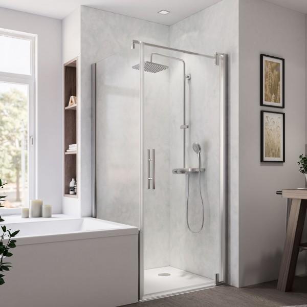 Europa Design Badewannenseitenwand links für Drehtür