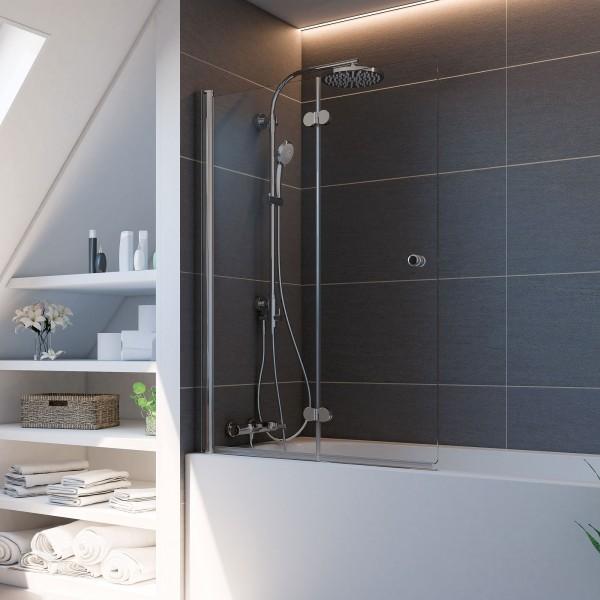 Elana Komfort: Badewannenaufsatz Drehfalttür Plus 2-teilig, links