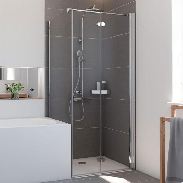 Elana Komfort: Badewannenseitenwand für Drehfalttür, links