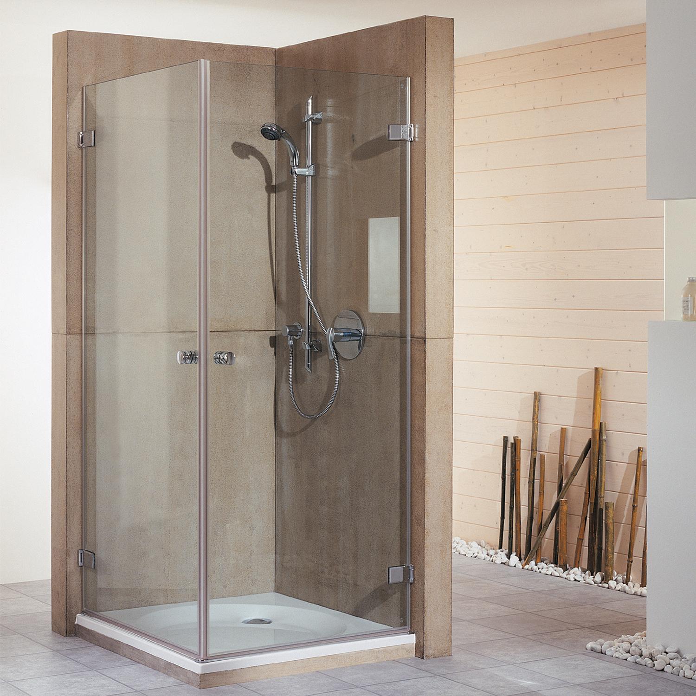 duschkabine eckeinstieg mit dreht r first glass breuer. Black Bedroom Furniture Sets. Home Design Ideas