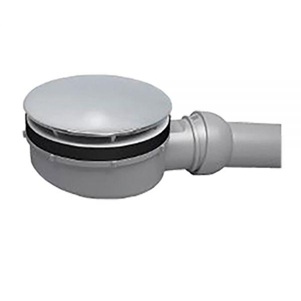 Siphon extra flach, 60 mm Bauhöhe, waagerecht, D=90