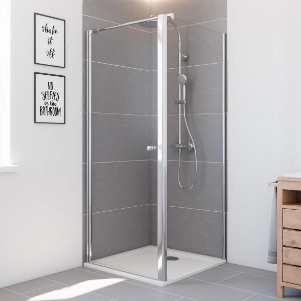 Elana6: Drehtür links für Seitenwand & Badewannenseitenwand