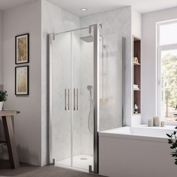 Europa Design Badewannenseitenwand rechts für Pendeltür